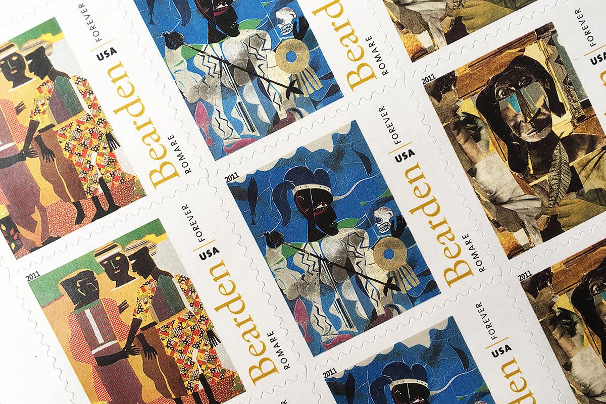 Romare Bearden stamps detail
