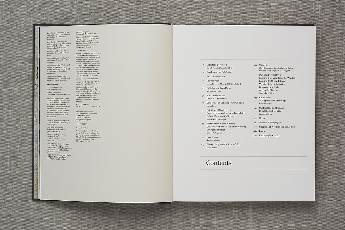 Gustave Caillebotte contents