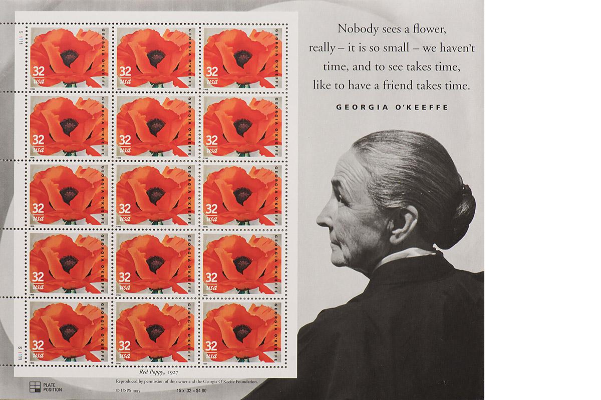 Georgia O'Keeffe stamp