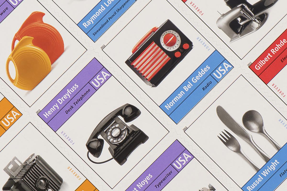 Pioneers of American Industrial Design stamp detail
