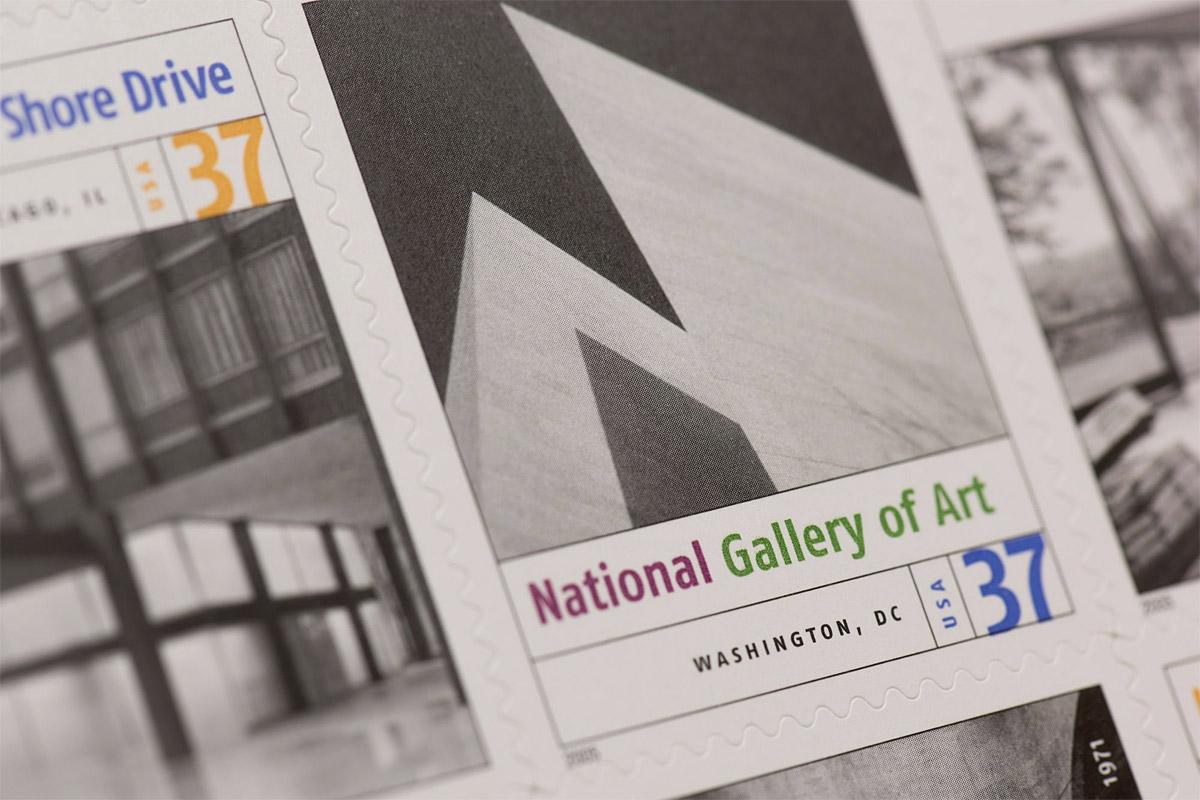 Modern Art in Amerca stamp detail