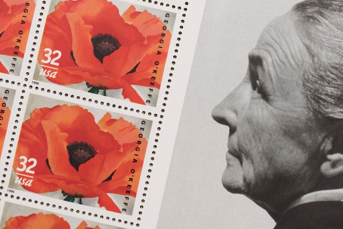 Georgia O'Keeffe Stamp detail