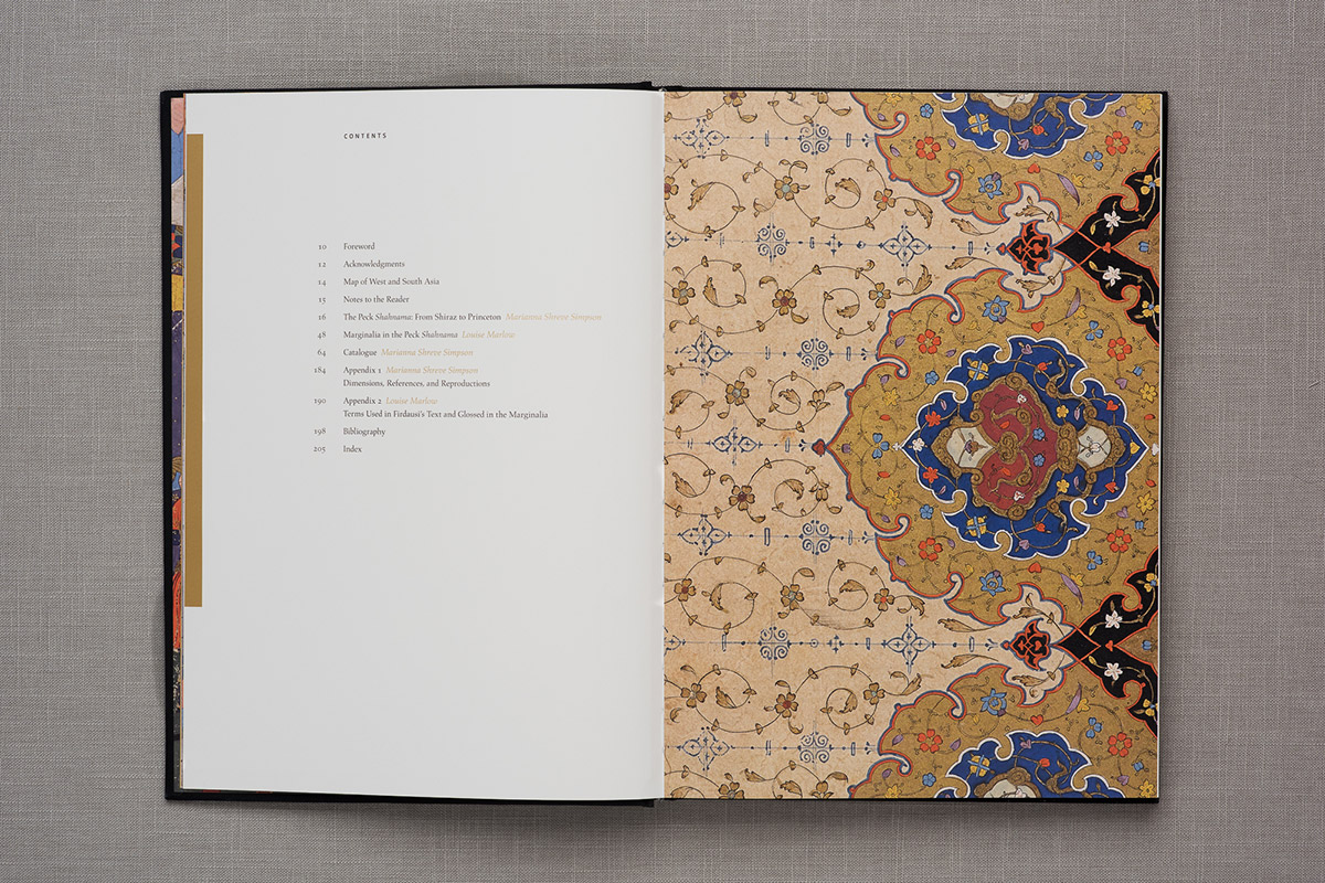 The Peck Shahnama contents