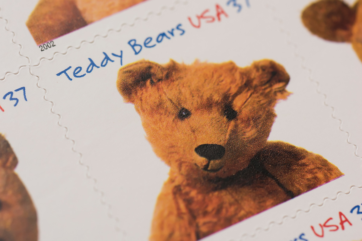 Teddy Bears stamps detail