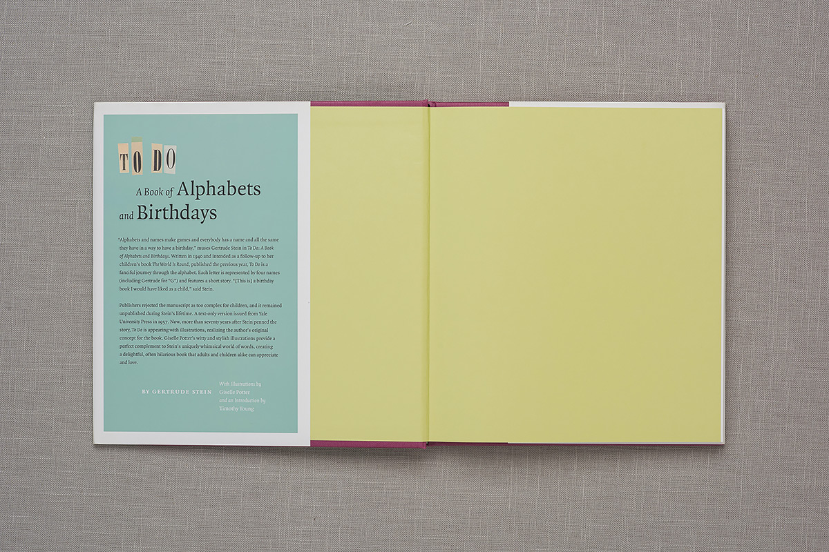 To Do: A Book of Alphabets and Birthdays endpapers