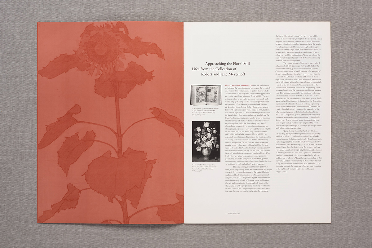 Floral Still Lifes from the Collection of Robert and Jane Meyerhoff, booklet