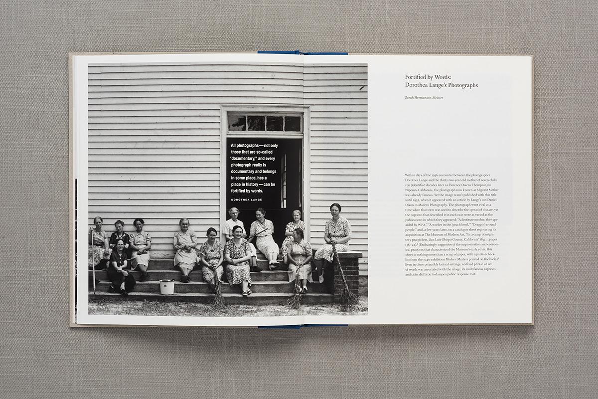 Dorothea Lange: Words & Pictures spread